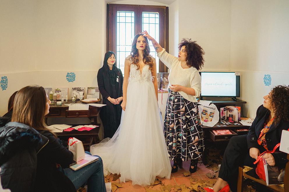 Masterclass acconciatura sposa salerno lookmaker Francesca